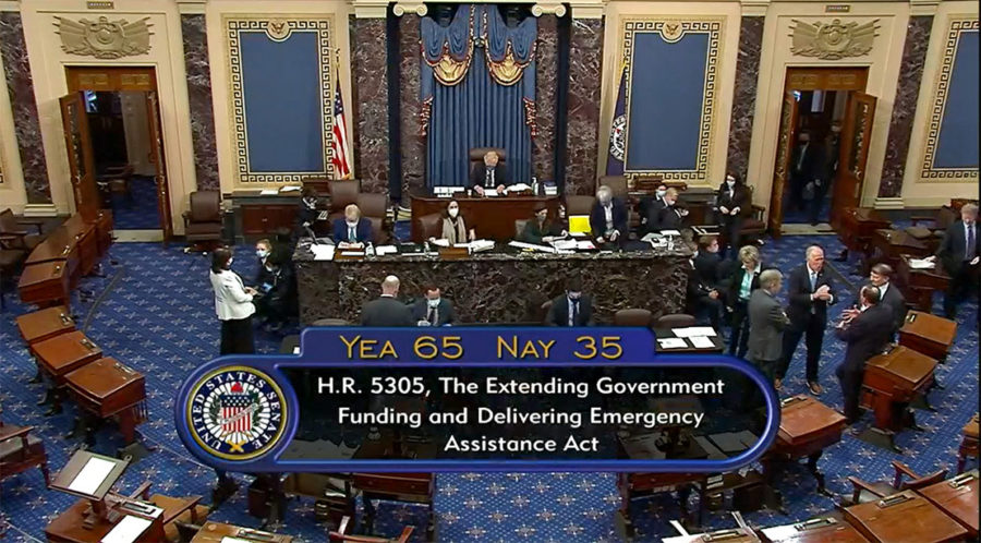 The Senate passed H.R. 5305 — legislation that would extend federal funds until December 2021